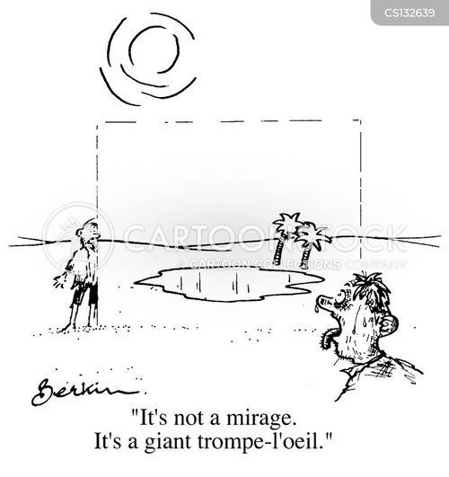 trompe loeil cartoon