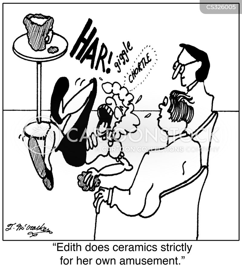 ceramics class cartoon