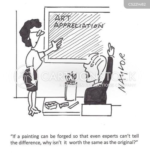art experts cartoon