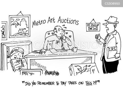 auctioned cartoon