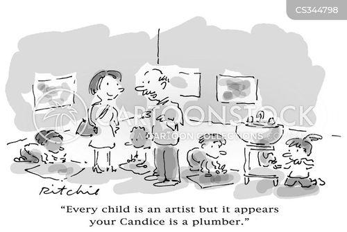kindergarten teacher cartoon