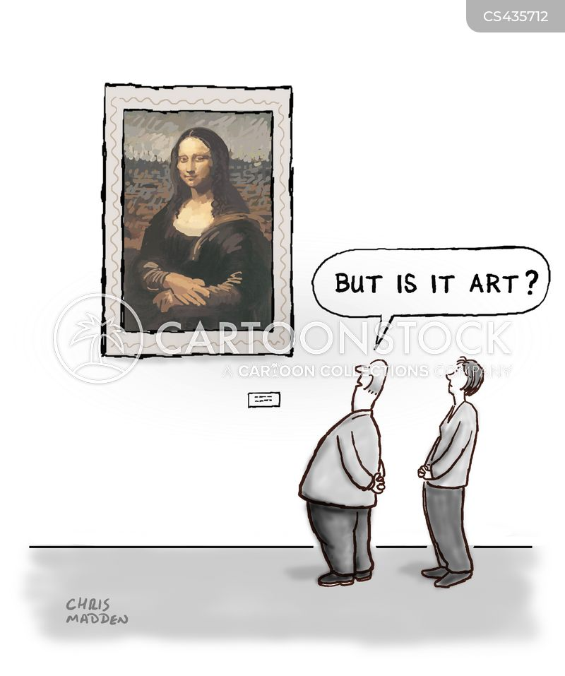 famous artworks cartoon