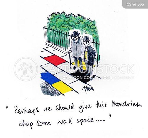 mondrian cartoon