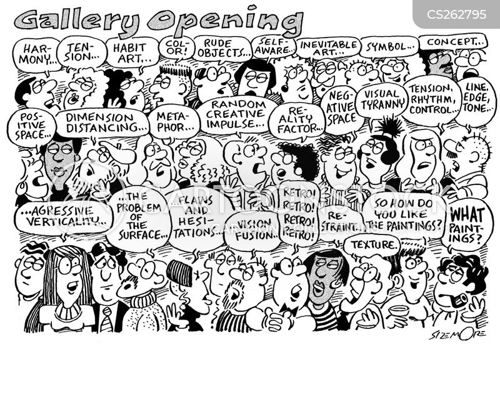 arty type cartoon