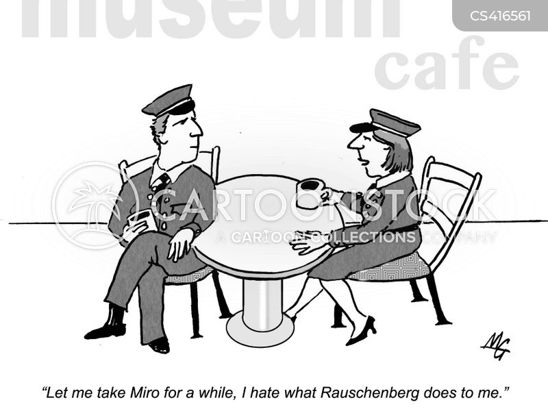 museum guard cartoon