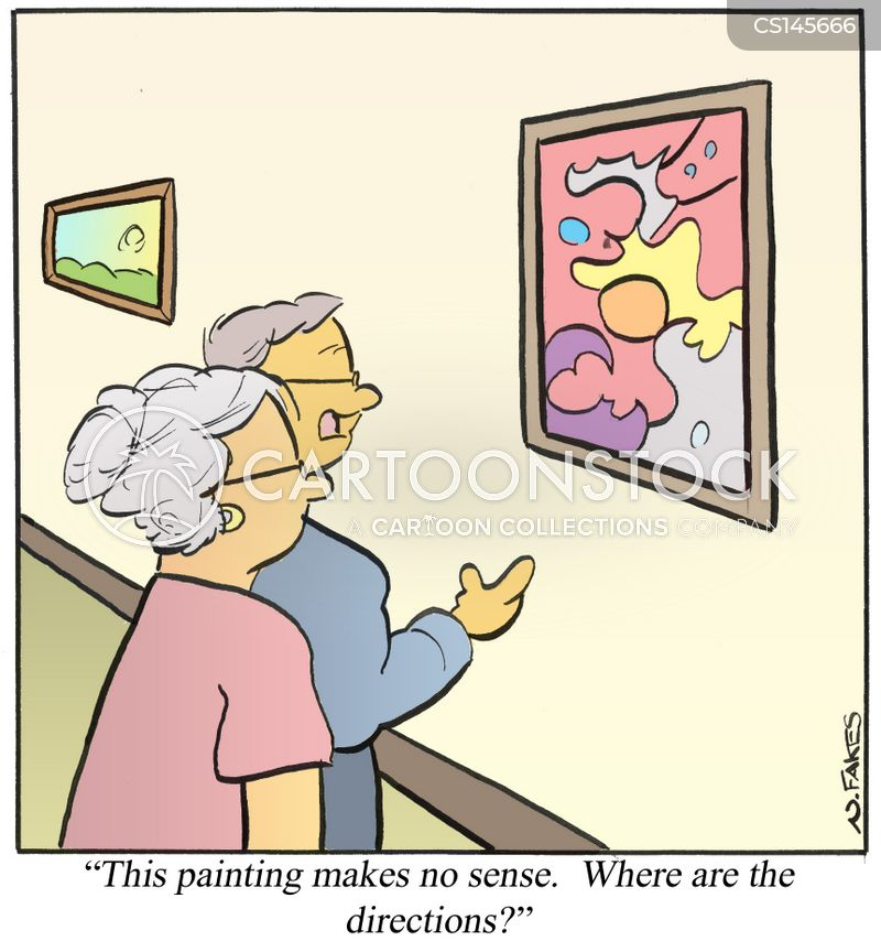modern artwork cartoon