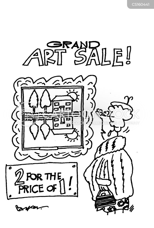 art sale cartoon