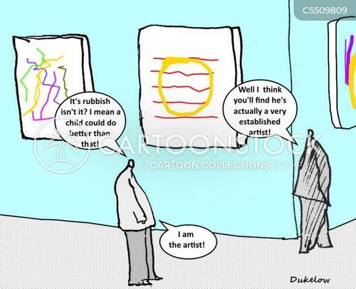 self-critical cartoon
