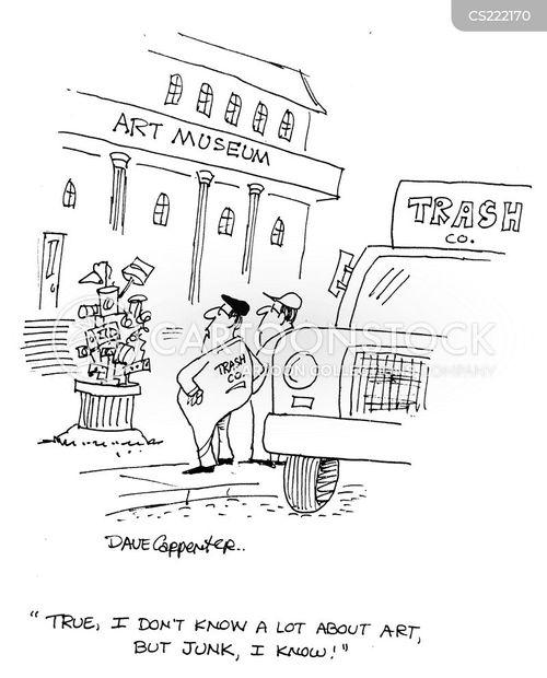 rubbish man cartoon