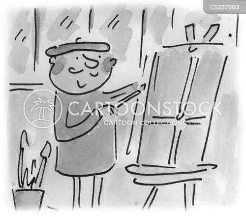 paintbrushes cartoon