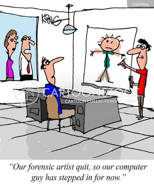 forensic artist cartoon