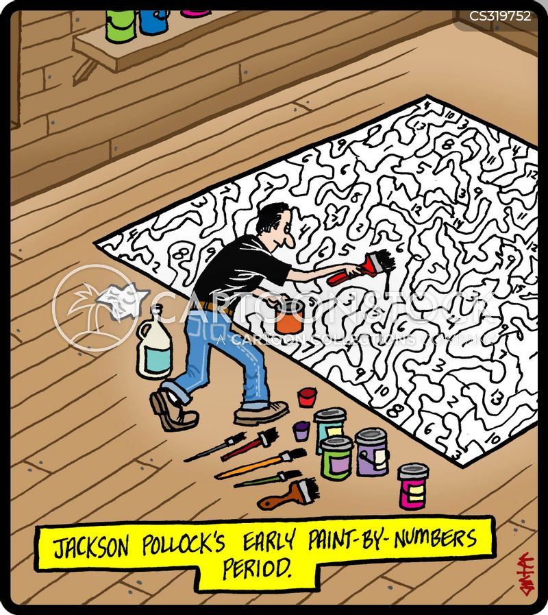 paint by numbers cartoon
