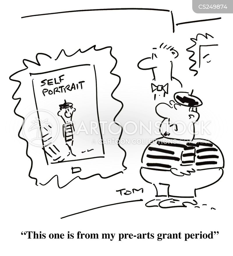 arts grants cartoon