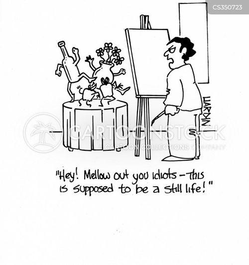 still lifes cartoon