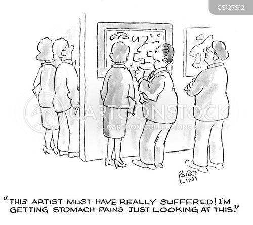suffering artists cartoon