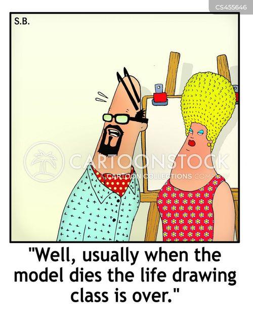 life drawing cartoon