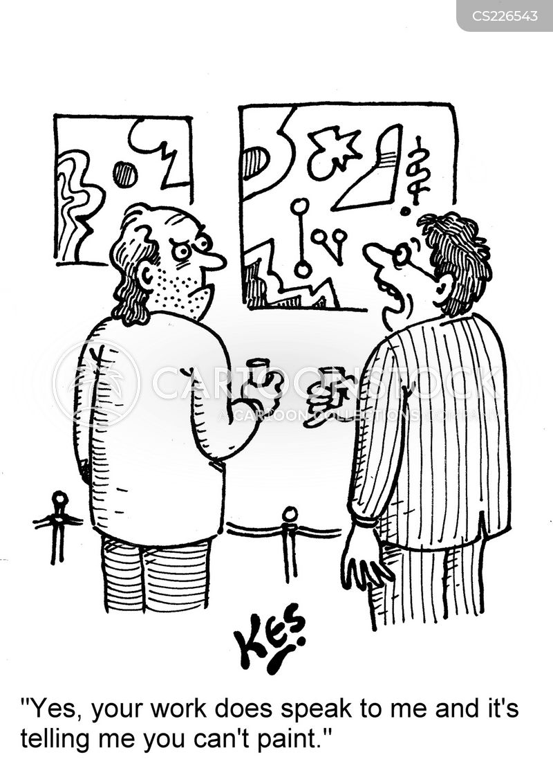 exhbitions cartoon