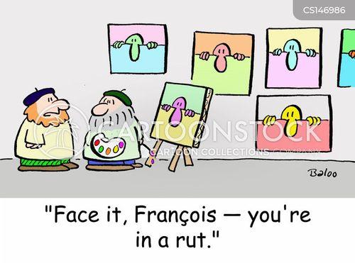 stuck in a rut cartoon