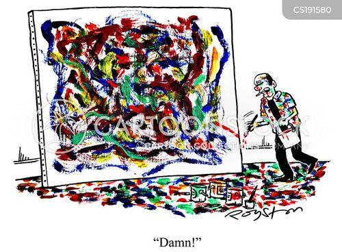jackson pollock cartoon