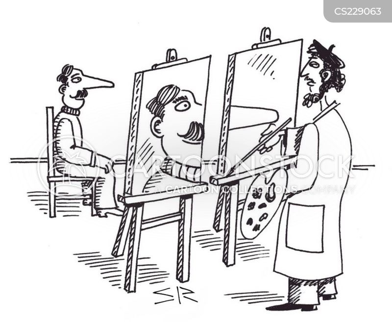 portrait artist cartoon