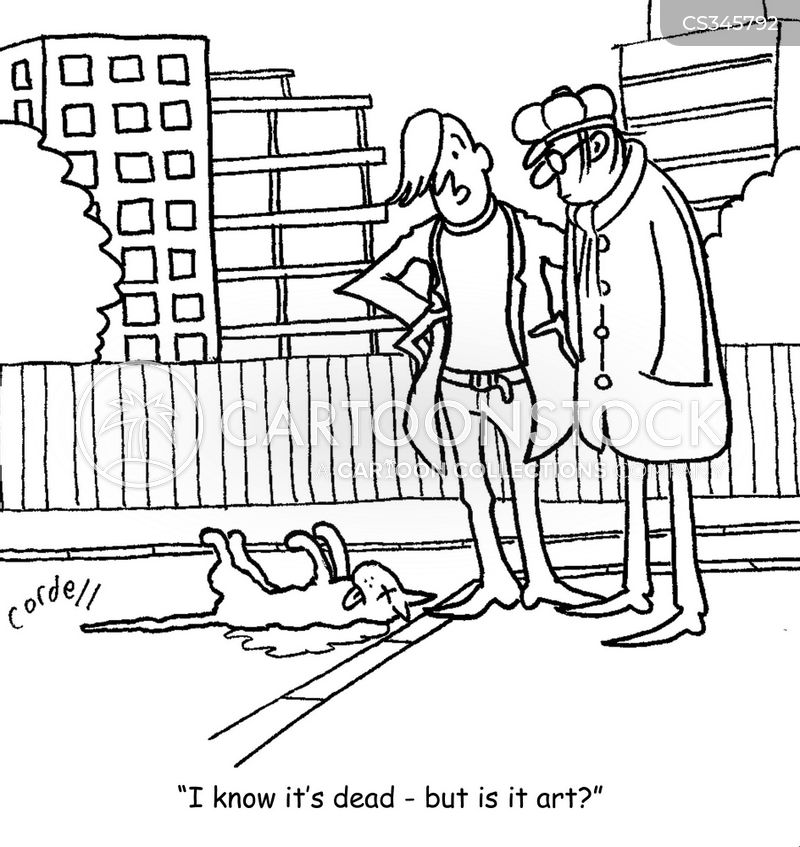 dead cat cartoon