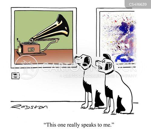 gramophone cartoon
