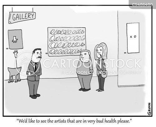dead artists cartoon