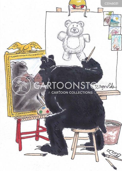 black bears cartoon