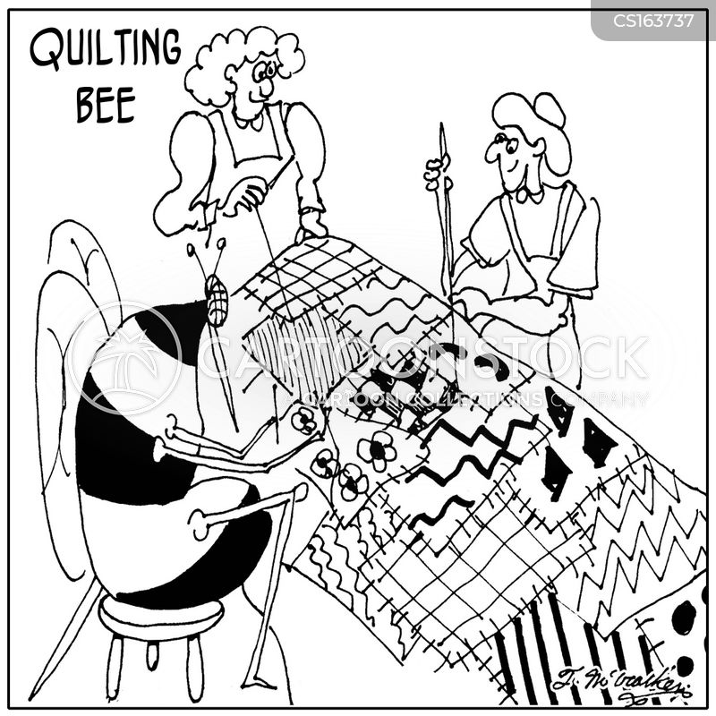 quilting bee cartoon