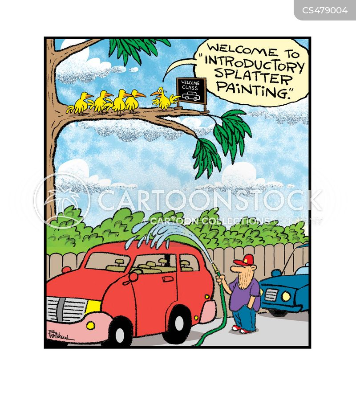 washing car cartoon