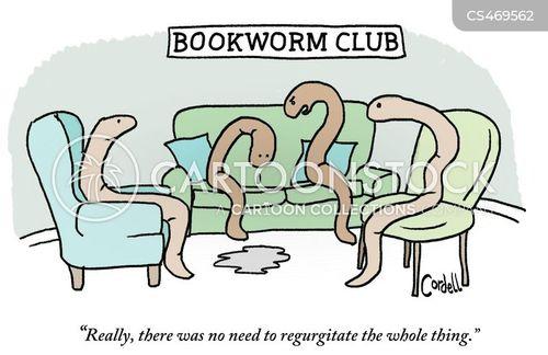 regurgitation cartoon