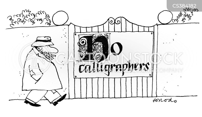 calligrapher cartoon