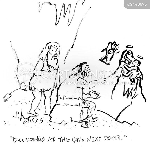 birth of jesus cartoon