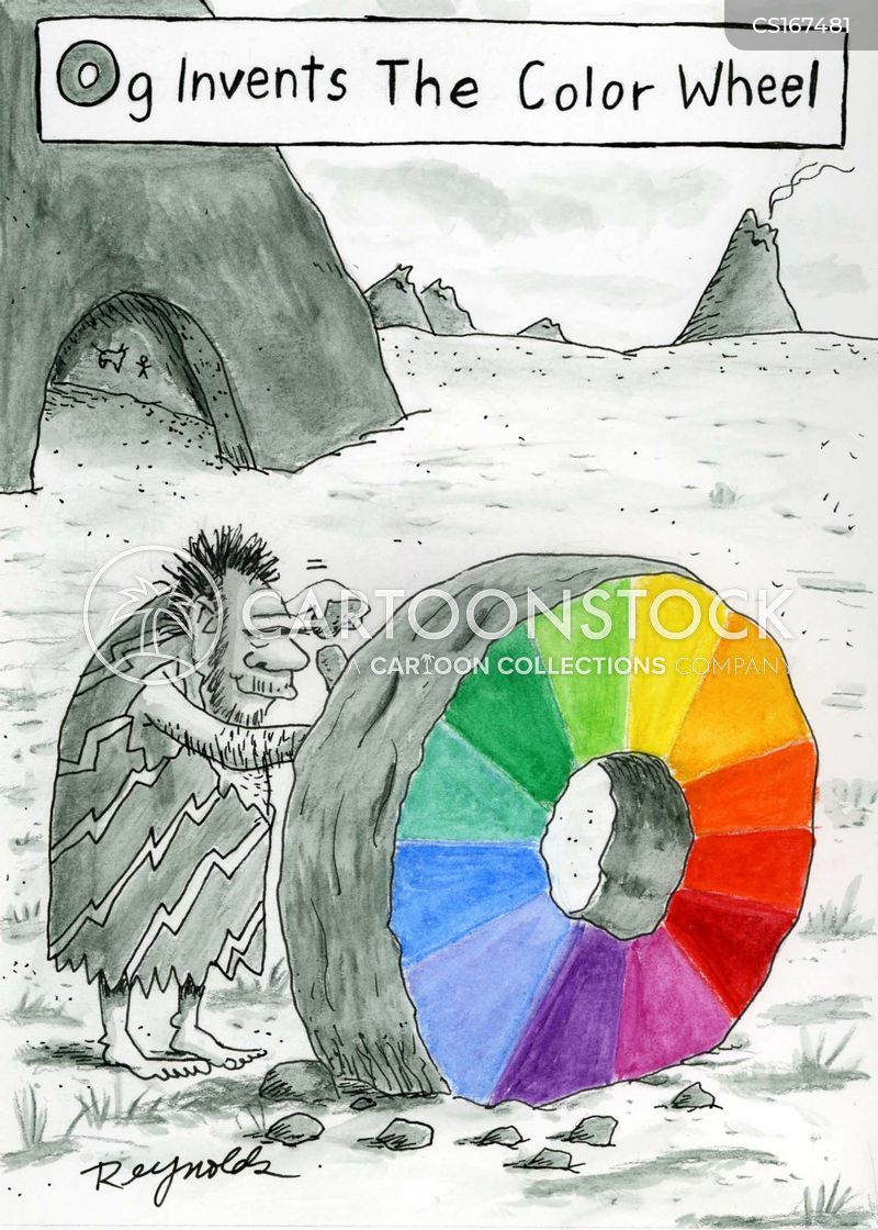 color wheel cartoon