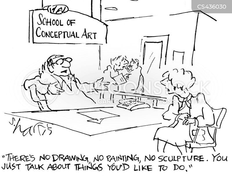 conceptual arts cartoon