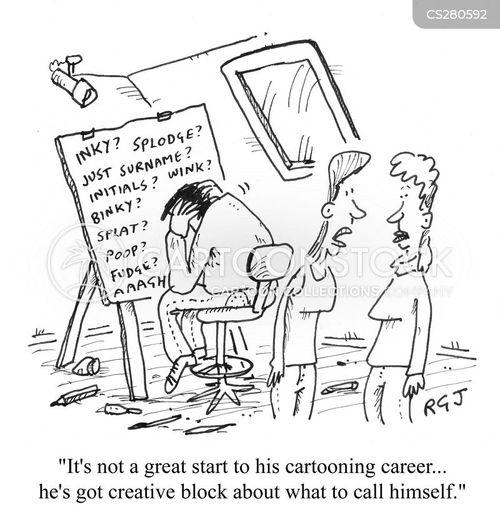 creative blocks cartoon