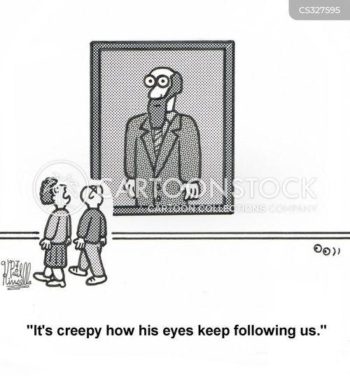 creepiness cartoon