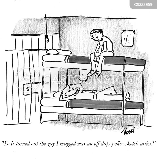 sketch artist cartoon
