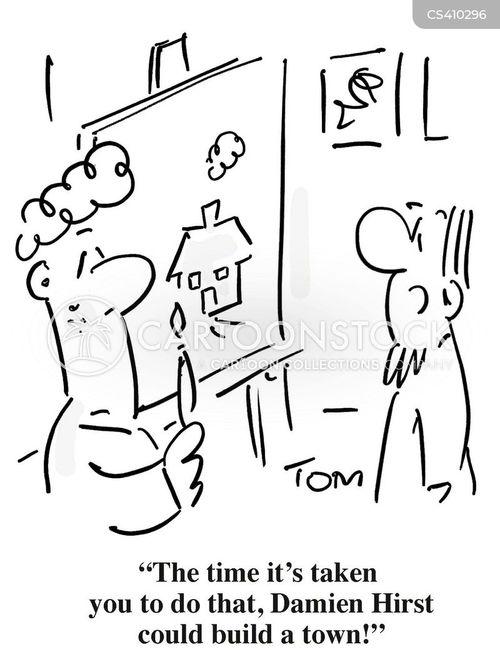 damien hirst cartoon