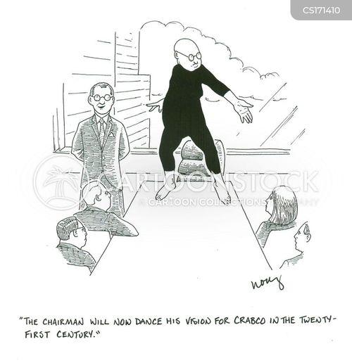 modern dance cartoon