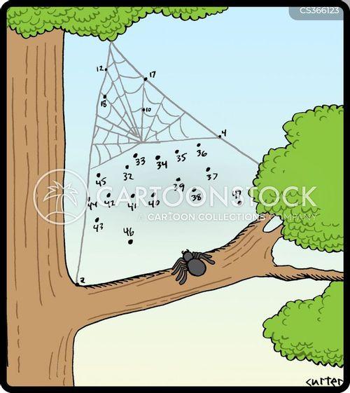 spiderwebs cartoon