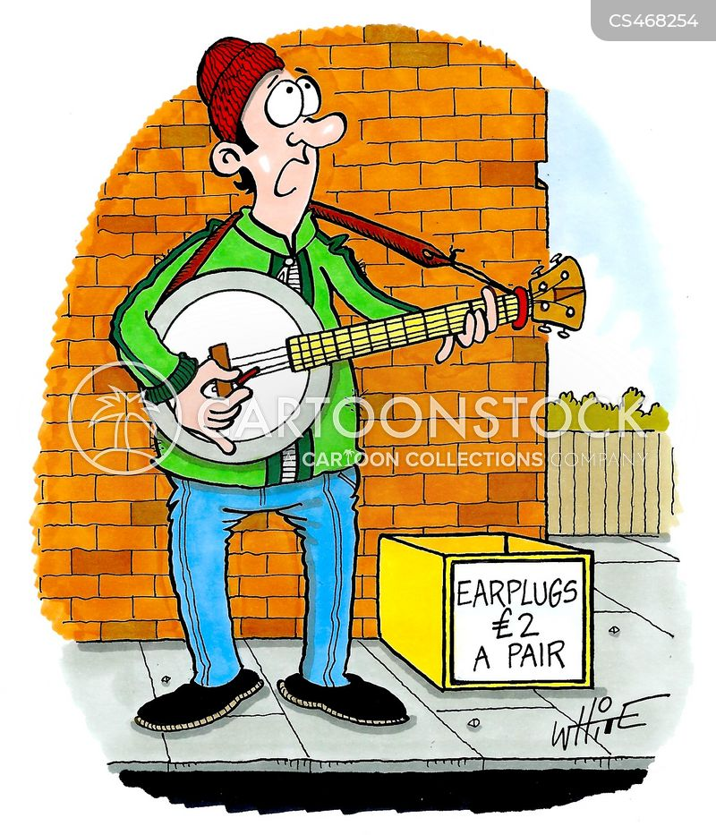 earplug cartoon