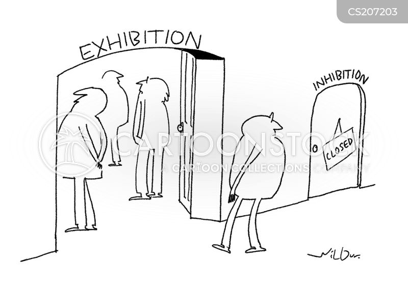 art gallery exhibitions cartoon