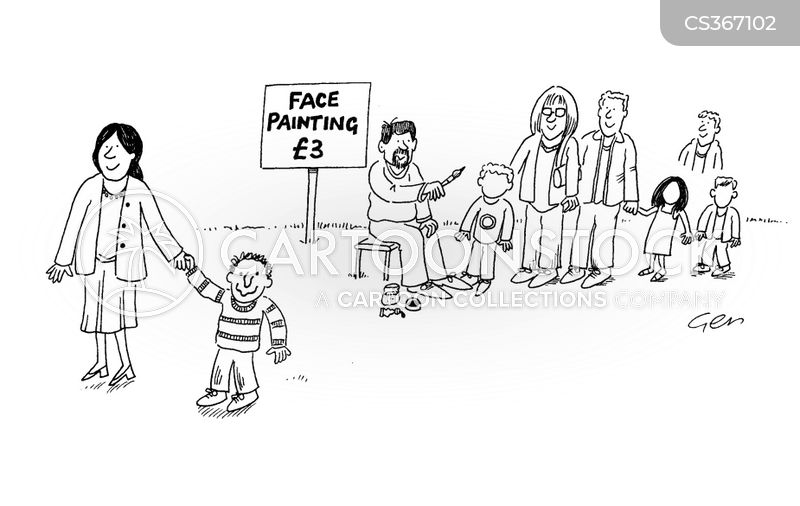painting faces cartoon