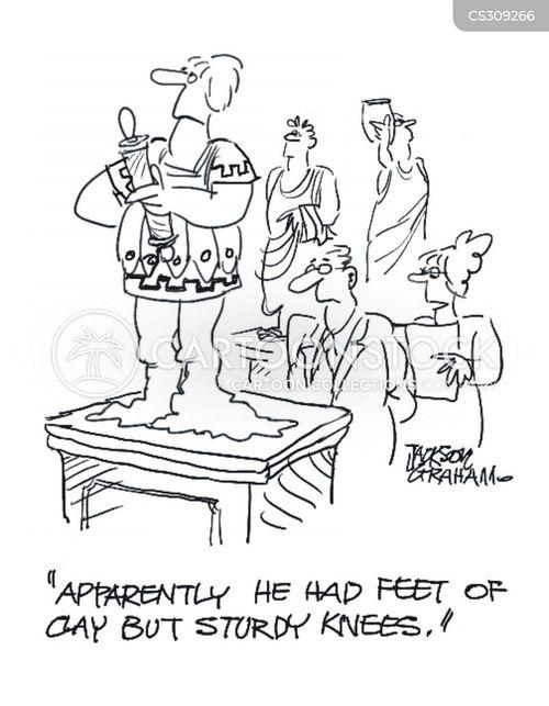 feet of clay cartoon