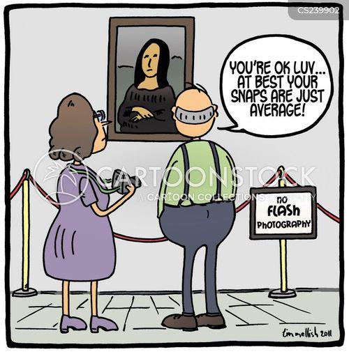 the louvre cartoon