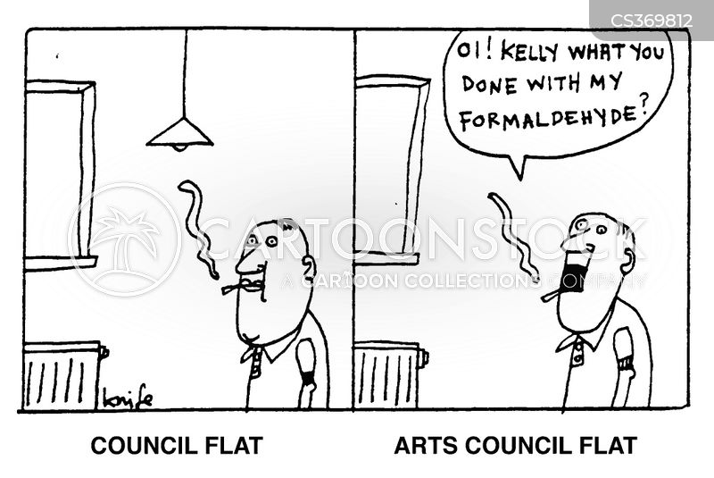council flats cartoon