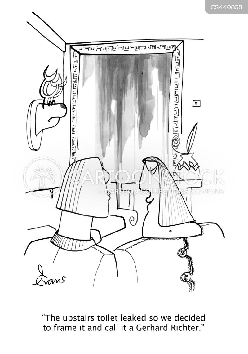 plumbing disaster cartoon