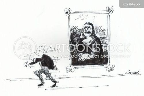 louvre cartoon