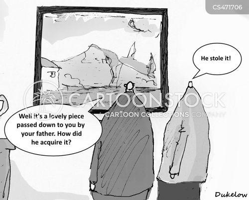 art thieves cartoon